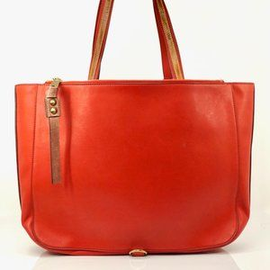 Auth Chloe Sam Red Brown Leather #3732C17